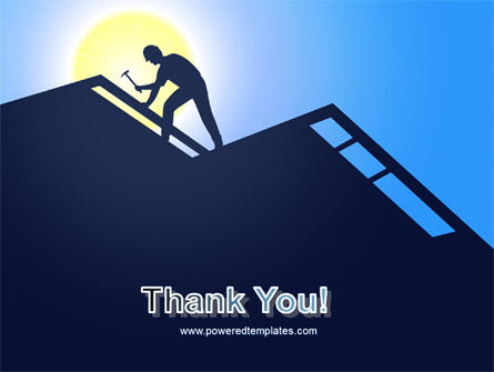 Builder On A Roof PowerPoint Template Slide 20