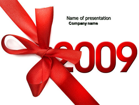 2009 yr PowerPoint Template, 04122, Holiday/Special Occasion — PoweredTemplate.com