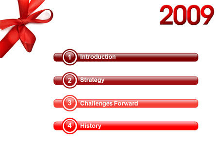 2009 yr PowerPoint Template, Slide 3, 04122, Holiday/Special Occasion — PoweredTemplate.com