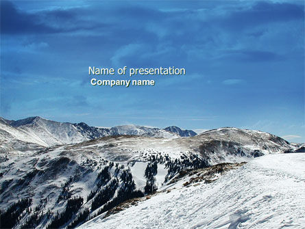 Nature & Environment: Snowy Mountains PowerPoint Template #04123