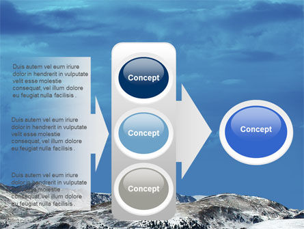 Snowy Mountains PowerPoint Template Slide 11