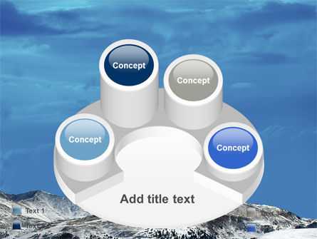 Snowy Mountains PowerPoint Template Slide 12