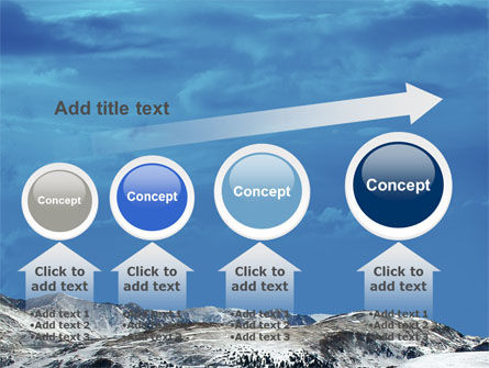 Snowy Mountains PowerPoint Template Slide 13