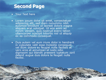 Snowy Mountains PowerPoint Template Slide 2