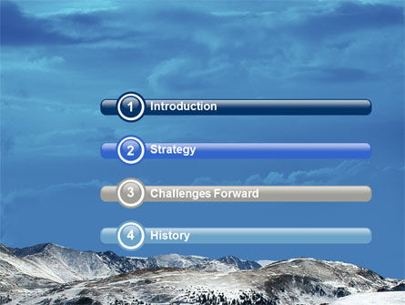 Snowy Mountains PowerPoint Template Slide 3