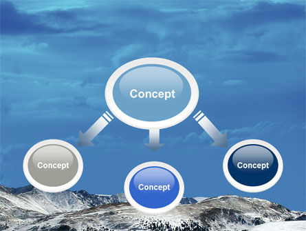 Snowy Mountains PowerPoint Template Slide 4