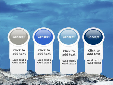 Snowy Mountains PowerPoint Template Slide 5