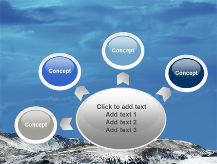 Snowy Mountains PowerPoint Template Slide 7