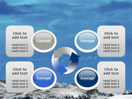 Snowy Mountains PowerPoint Template Slide 9