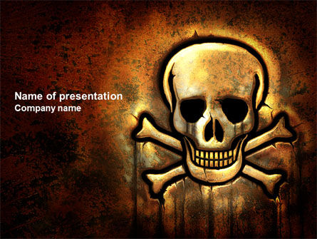 Pirate Sign PowerPoint Template, 04124, Military — PoweredTemplate.com