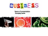 Business: Plantilla de PowerPoint - tema del negocio #04125