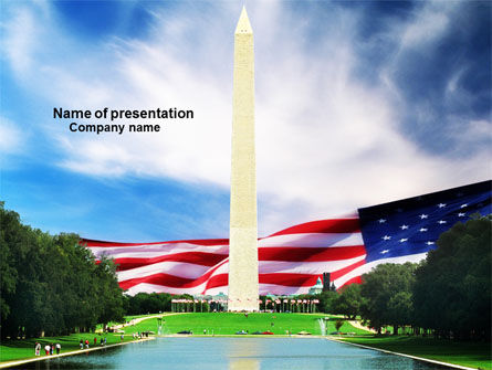 Washington Monument PowerPoint Template, 04126, America — PoweredTemplate.com
