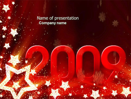 2009 yr with Star PowerPoint Template, 04130, Holiday/Special Occasion — PoweredTemplate.com
