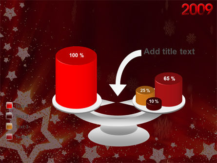 2009 yr with Star PowerPoint Template Slide 10