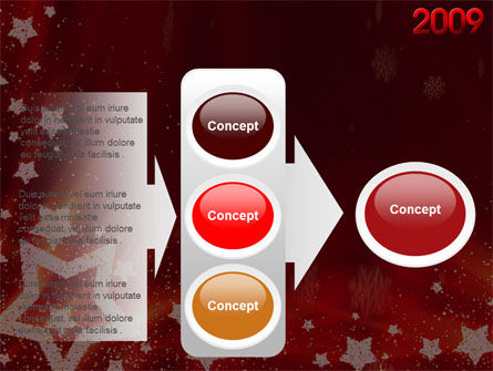 2009 yr with Star PowerPoint Template Slide 11
