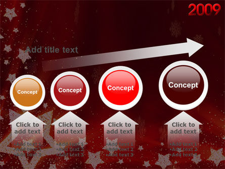 2009 yr with Star PowerPoint Template Slide 13