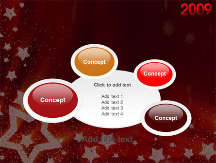 2009 yr with Star PowerPoint Template Slide 16
