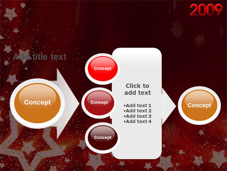 2009 yr with Star PowerPoint Template Slide 17