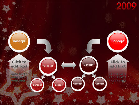 2009 yr with Star PowerPoint Template Slide 19