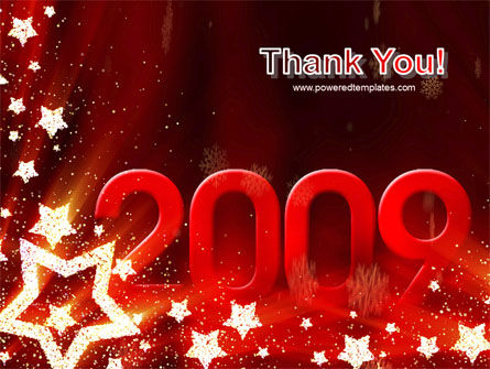 2009 yr with Star PowerPoint Template Slide 20