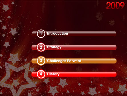 2009 yr with Star PowerPoint Template, Slide 3, 04130, Holiday/Special Occasion — PoweredTemplate.com