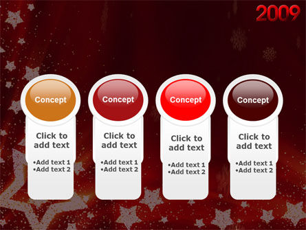 2009 yr with Star PowerPoint Template Slide 5
