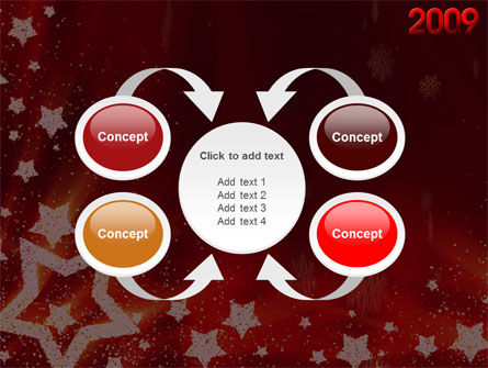 2009 yr with Star PowerPoint Template Slide 6