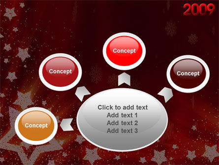 2009 yr with Star PowerPoint Template Slide 7
