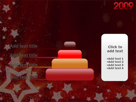2009 yr with Star PowerPoint Template Slide 8