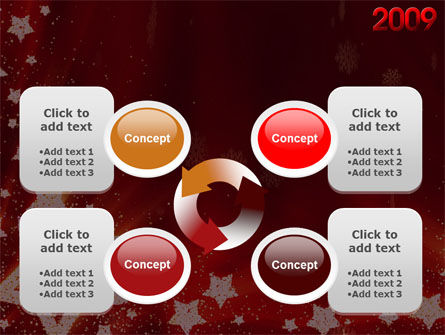 2009 yr with Star PowerPoint Template Slide 9