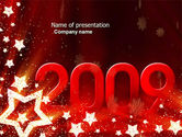 Holiday/Special Occasion: 2009 yr with star - PowerPointテンプレート #04130