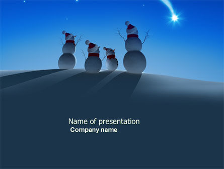 Snow Men PowerPoint Template, 04131, Holiday/Special Occasion — PoweredTemplate.com