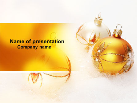 Holiday/Special Occasion: Christmas Decorations Free PowerPoint Template #04134