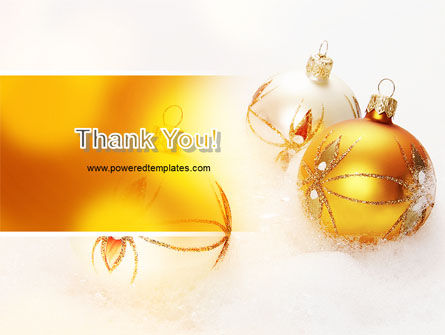 Free Christmas Decorations PowerPoint Template Slide 20