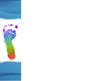 Foot Print PowerPoint Template, Slide 3, 04136, Abstract/Textures — PoweredTemplate.com