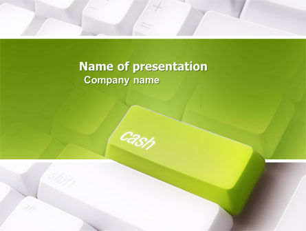 Financial/Accounting: Cash Button PowerPoint Template #04137