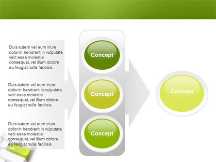 Cash Button PowerPoint Template Slide 11