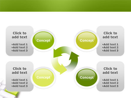 Cash Button PowerPoint Template Slide 9