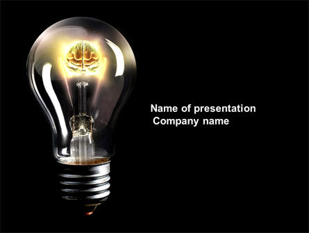 Business Concepts: Electric Light PowerPoint Template #04138