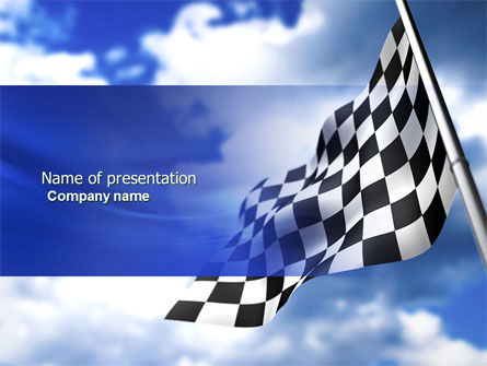 Flags/International: Homestretch PowerPoint Template #04142