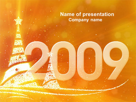 Holiday/Special Occasion: N 2009 Y Free PowerPoint Template #04145