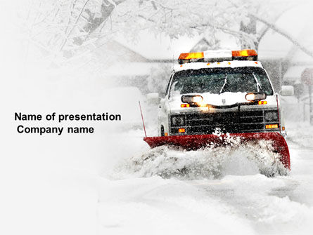 Nature & Environment: Snowdrift PowerPoint Template #04146