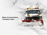 Nature & Environment: Snowdrift PowerPoint Template #04146