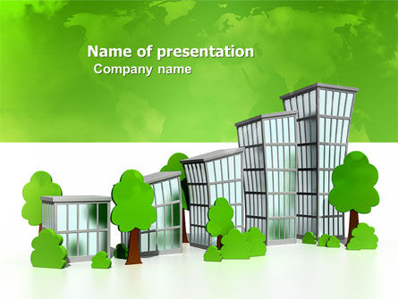 Construction: Green District PowerPoint Template #04147