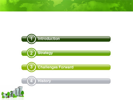 Green District PowerPoint Template, Slide 3, 04147, Construction — PoweredTemplate.com