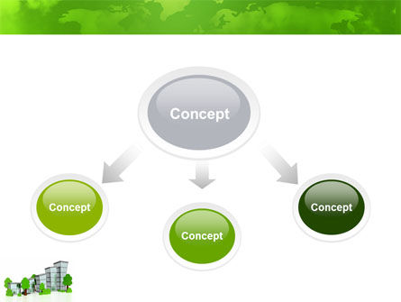 Green District PowerPoint Template, Slide 4, 04147, Construction — PoweredTemplate.com