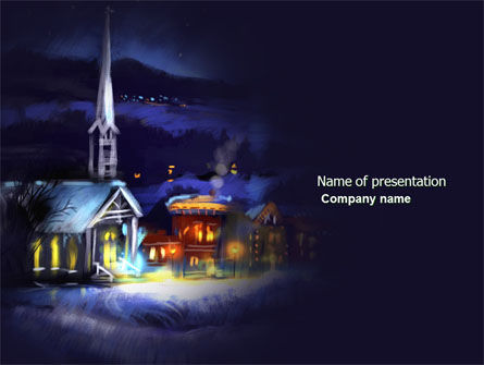 Holiday/Special Occasion: Christmas Evening Free PowerPoint Template #04148