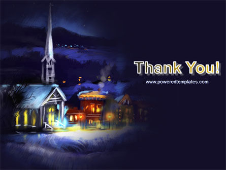Christmas Evening Free PowerPoint Template Slide 20