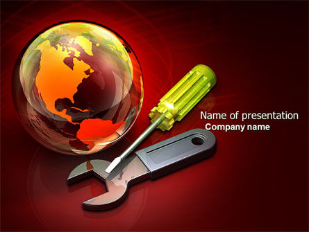Global: Full Repair PowerPoint Template #04150