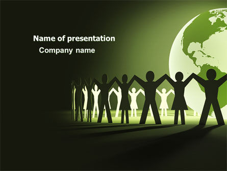 World Unity PowerPoint Template, 04151, Global — PoweredTemplate.com